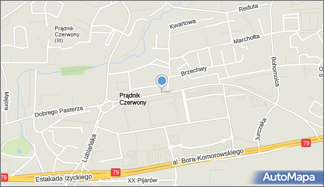 Kraków, Dobrego Pasterza, mapa Krakowa