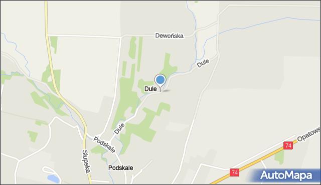 Łagów, Dule, mapa Łagów