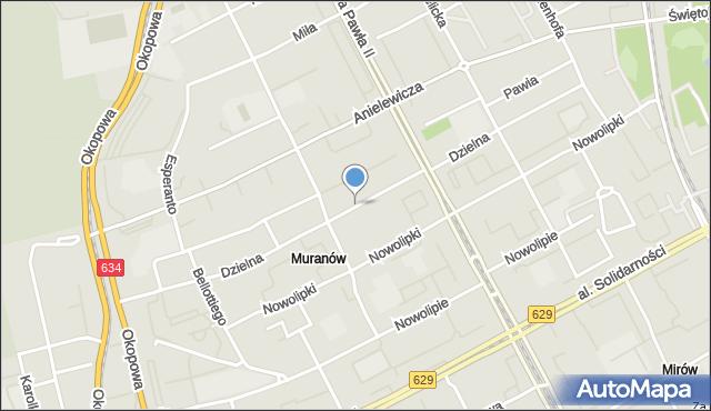Warszawa, Dzielna, mapa Warszawy