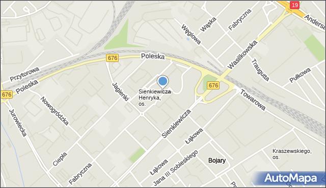 Białystok, Fabryczna, mapa Białegostoku