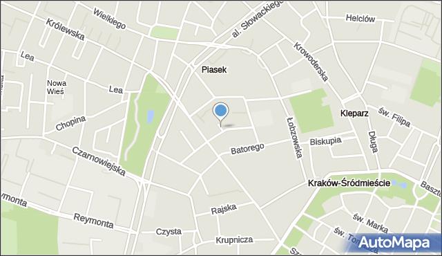 Kraków, Feldmana Wilhelma, mapa Krakowa