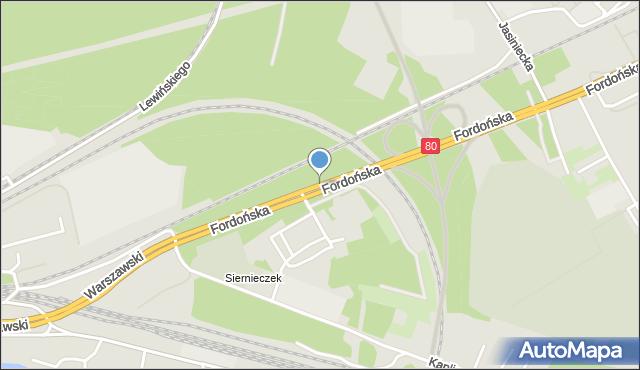 Bydgoszcz, Fordońska, mapa Bydgoszczy
