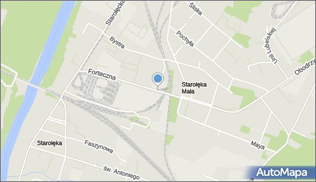 Poznań, Forteczna, mapa Poznania