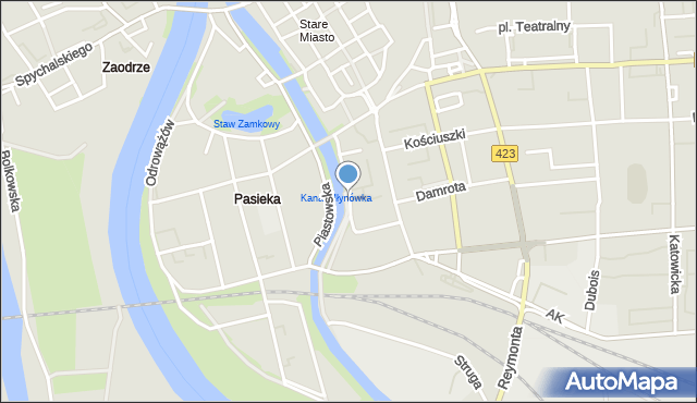 Opole, Franciszka Żwirki i Stanisława Wigury, mapa Opola