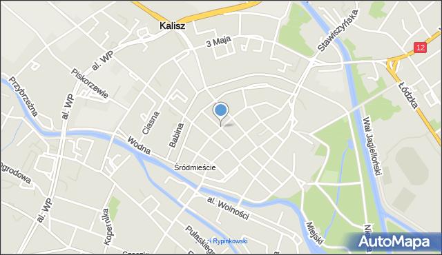 Kalisz, Garbarska, mapa Kalisza