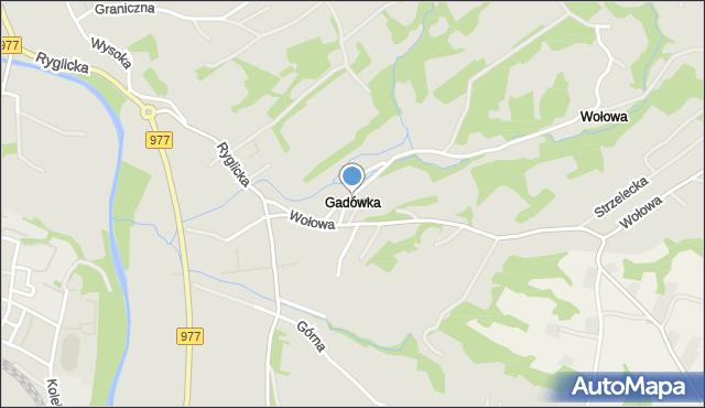 Tuchów, Gądówka, mapa Tuchów