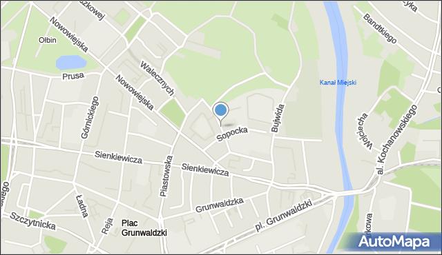 Wrocław, Gdańska, mapa Wrocławia
