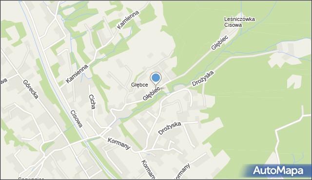 Brenna, Głębiec, mapa Brenna