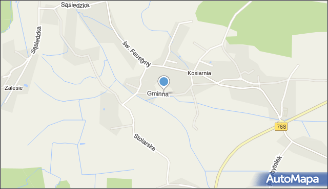 Mokrzyska, Gminna, mapa Mokrzyska
