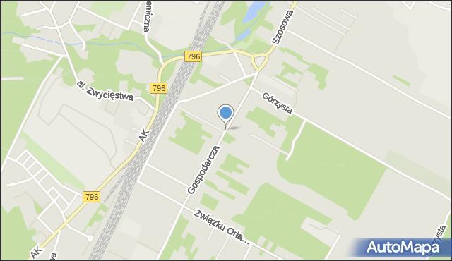 Dąbrowa Górnicza, Gospodarcza, mapa Dąbrowa Górnicza