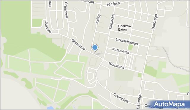 Chorzów, Graniczna, mapa Chorzów