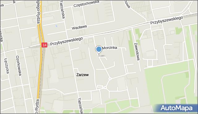 Łódź, Grota-Roweckiego Stefana, gen., mapa Łodzi