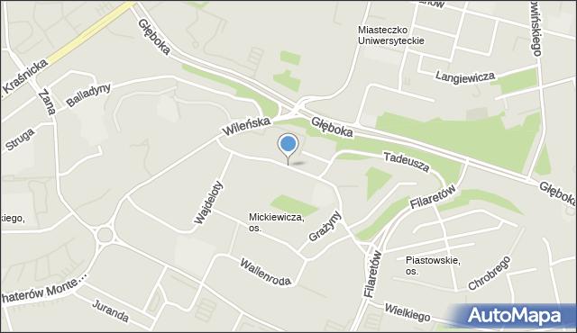 Lublin, Grażyny, mapa Lublina
