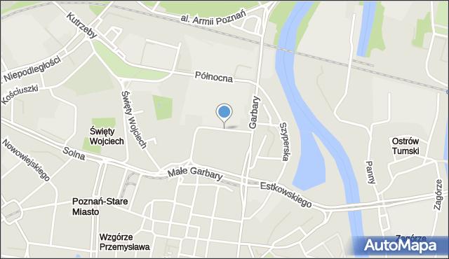 Poznań, Grochowe Łąki, mapa Poznania