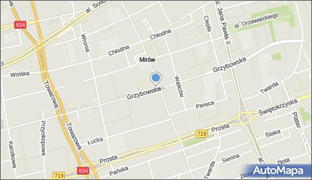 Warszawa, Grzybowska, mapa Warszawy