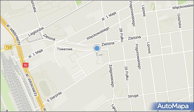 Łódź, Hallera Józefa, gen., pl., mapa Łodzi