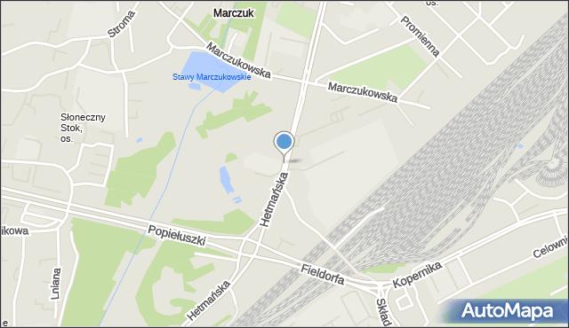 Białystok, Hetmańska, mapa Białegostoku