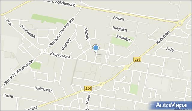 Pruszcz Gdański, Horsztyńskiego, mapa Pruszcz Gdański