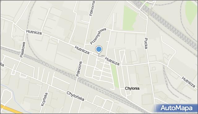 Gdynia, Hutnicza, mapa Gdyni