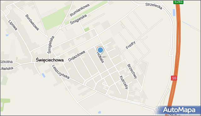Święciechowa, Hubala, mjr., mapa Święciechowa