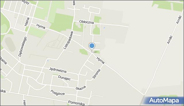 Łódź, Hyrna, mapa Łodzi