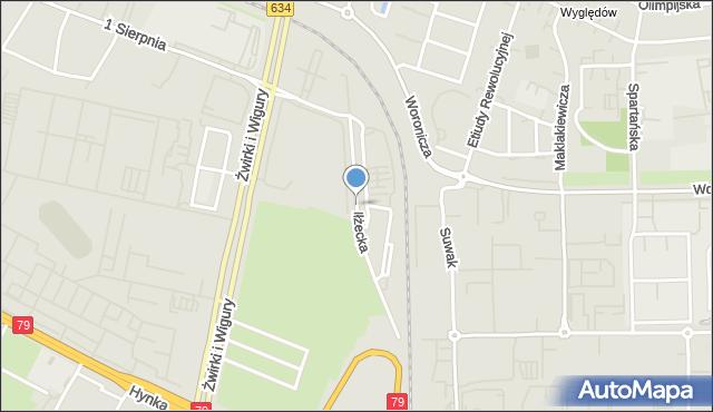 Warszawa, Iłżecka, mapa Warszawy