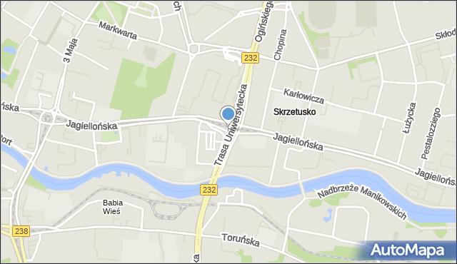 Bydgoszcz, Jagiellońska, mapa Bydgoszczy