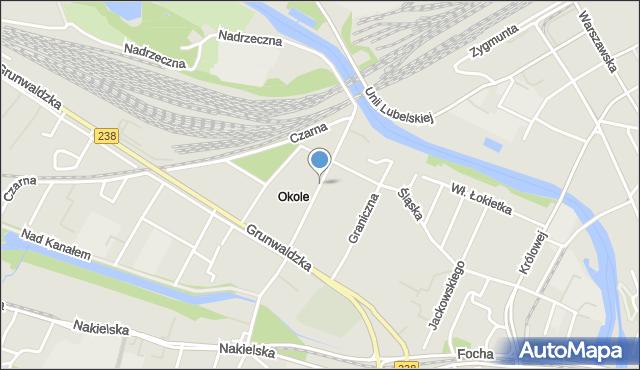 Bydgoszcz, Jasna, mapa Bydgoszczy