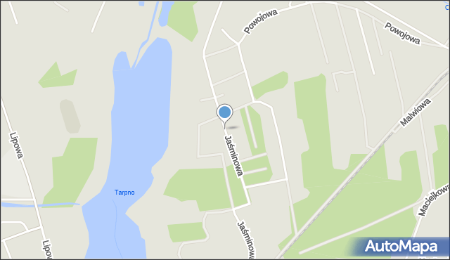 Grudziądz, Jaśminowa, mapa Grudziądza