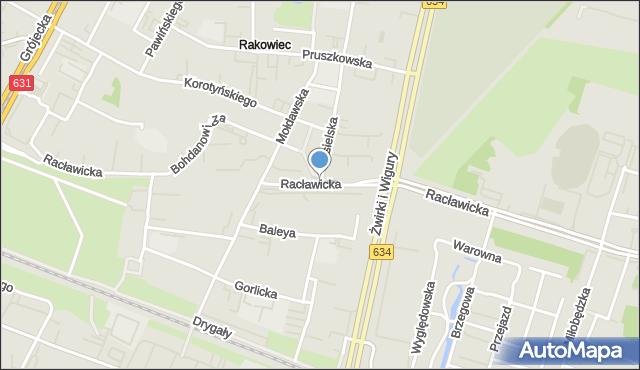 Warszawa, Jasielska, mapa Warszawy