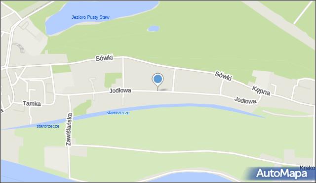 Gdańsk, Jodłowa, mapa Gdańska