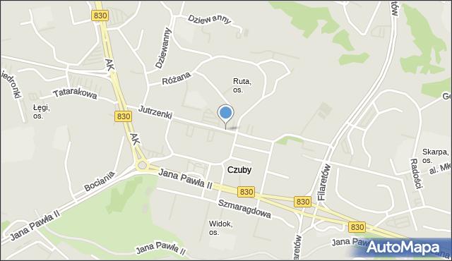 Lublin, Jutrzenki, mapa Lublina