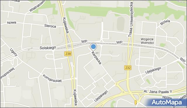 Bydgoszcz, Karpacka, mapa Bydgoszczy