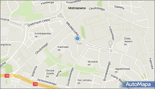 Kraków, Kalinowe, os., mapa Krakowa