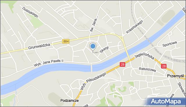 Przemyśl, Kasprowicza Jana, mapa Przemyśla