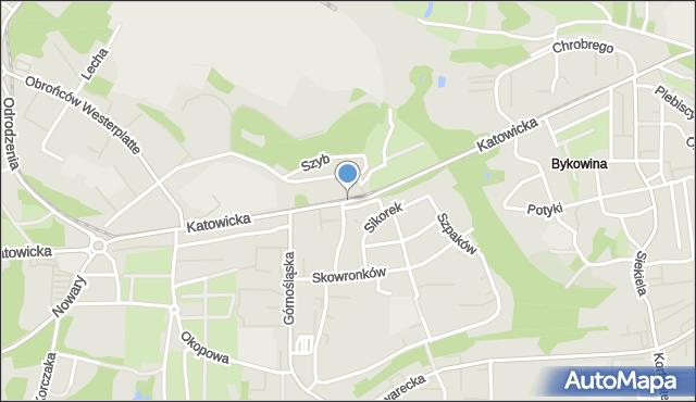 Ruda Śląska, Katowicka, mapa Rudy Śląskiej