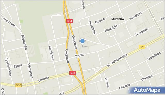Warszawa, Kacza, mapa Warszawy