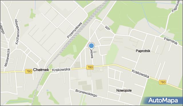 Chełmek, Klonowa, mapa Chełmek