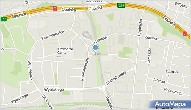 Kraków, Kluczborska, mapa Krakowa