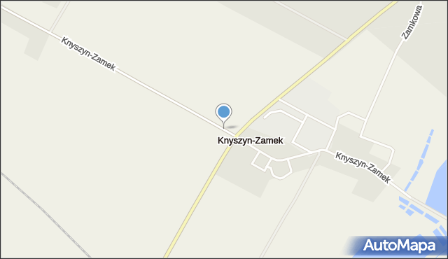 Knyszyn-Zamek, Knyszyn-Zamek, mapa Knyszyn-Zamek