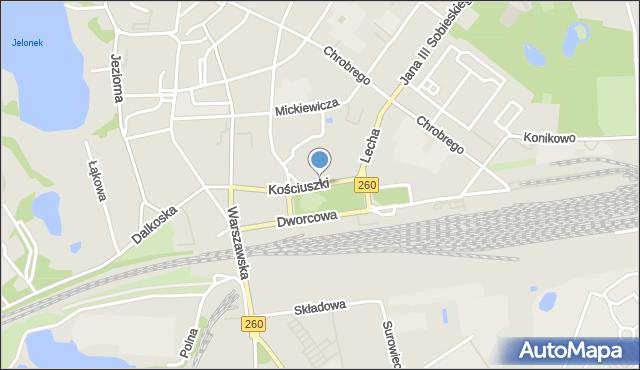 Gniezno, Kościuszki Tadeusza, gen., mapa Gniezna