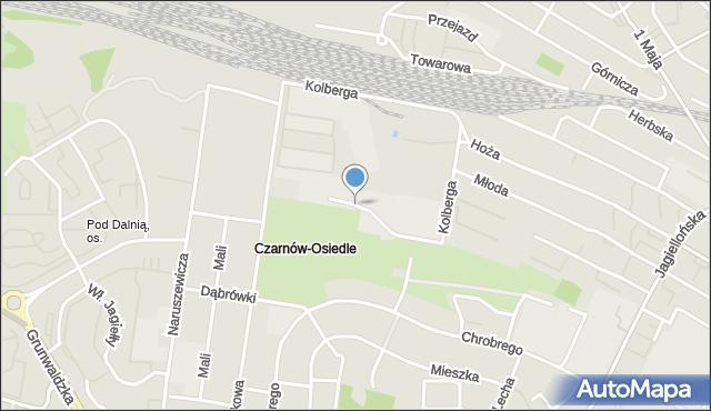 Kielce, Kolberga Oskara, mapa Kielc