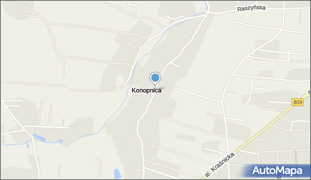Konopnica, Konopnica, mapa Konopnica