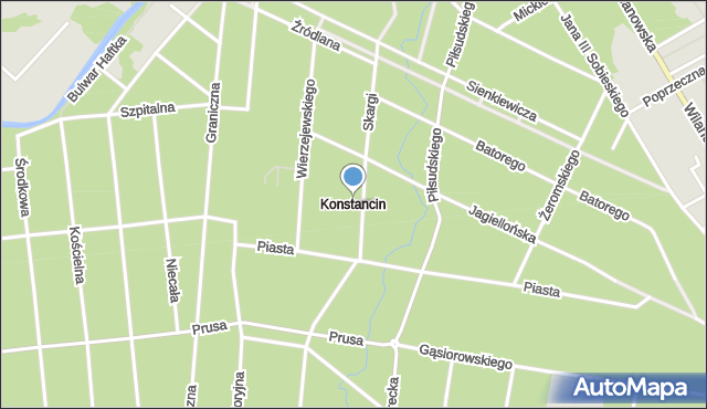 Konstancin-Jeziorna, Konstancin-Jeziorna, mapa Konstancin-Jeziorna