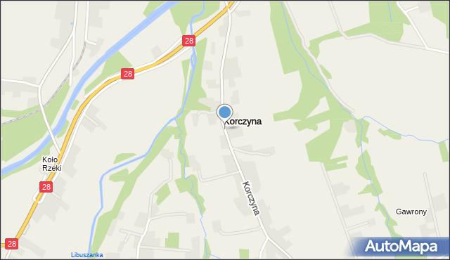 Korczyna, Korczyna, mapa Korczyna