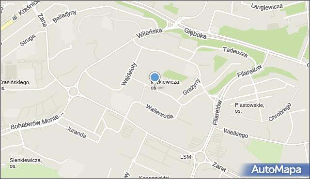 Lublin, Konrada Wallenroda, mapa Lublina