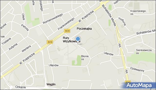 Lublin, Konstantynów, mapa Lublina