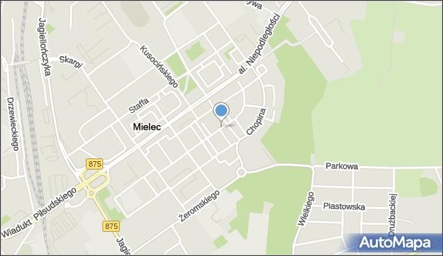 Mielec, Konopnickiej Marii, mapa Mielca