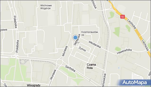 Poznań, Kosmonautów, os., mapa Poznania