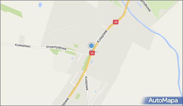Wąsosz, Kolejowa, mapa Wąsosz
